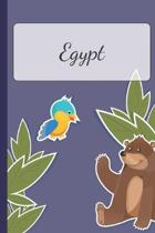 Egypt: Personalized Notebooks - Sketchbook for Kids with Name Tag - Drawing for Beginners with 110 Dot Grid Pages - 6x9 / A5