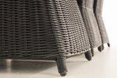 Clp Candela XL - Dining Tuinset - 5 mm Poly-rotan - Rotan kleur zwart Overtrek : antraciet