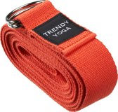 Trendy Sport Yoga riem - Yogariem - Yoga belt - 190 cm lang - 4 cm breed - 2 mm dik - Rood