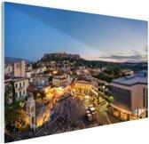 Monastiraki Athene Glas 60x40 cm - Foto print op Glas (Plexiglas wanddecoratie)
