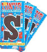 Tony's Chocolonely Puur letterreep S - 3 stuks