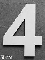 Xaptovi Huisnummer 4 Materiaal: RVS - Hoogte: 50cm - Kleur: RVS