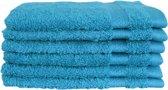 Katoenen Washandjes met Ophang Lus – 6 Pack – 15 x 21 cm – Turquoise