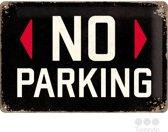 No Parking Metalen Wandbord 20x30 cm