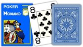 2 decks Modiano Cristallo met jumbo 4 index Blauw