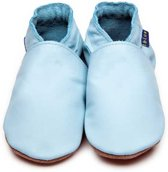 Inch Blue babyslofjes plain baby blue maat 4XL (19 cm)