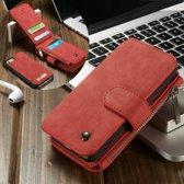 Caseme Leren Wallet iPhone 5(s)/SE - Rood