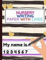 Nursery Writing Paper with Lines