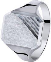 Lucardi - Zilveren heren zegelring