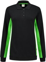 Tricorp polosweater bi-color dames - 302002 - zwart / lime - maat L