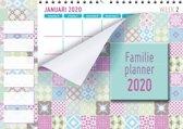 Family planner XL 2020 - Familieplanner Omlegkalender - Pastel - 34 x 24,5 cm