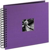 Hama Fine Art spiraal lila 28x24 50 zwarte pagina's 94876
