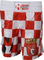 Nihon Kickboks Broek Helmond Heren Rood/wit Maat Xs