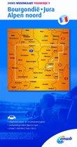 ANWB wegenkaart - Frankrijk 9 Bourgondië,Jura,Alpen noord