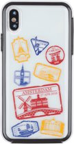 iPhone X / XS 2in1 Passport stamps Amsterdam travel cover souvenir gift