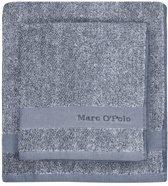Marc O'Polo Melange  Badhanddoek - 50x100 - Blue/off white