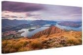 Bergen en meren Canvas 60x40 cm - Foto print op Canvas schilderij (Wanddecoratie)