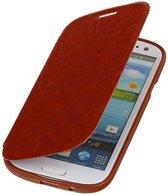 Samsung Galaxy S3 Hoesje Easy Booktype Bruin