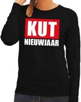 Foute oud en nieuw trui / sweater kut nieuwjaar zwart voor dames XL (42)