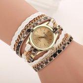 Geneva Horloge Armband Wit Goud