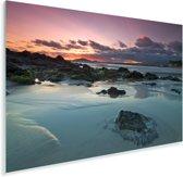 Zonsondergang bij de Galapagoseilanden Plexiglas 90x60 cm - Foto print op Glas (Plexiglas wanddecoratie)
