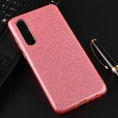 Let op type!! Voor Huawei P30 volledige dekking TPU + PC glittery poeder beschermende Back Cover (roze)