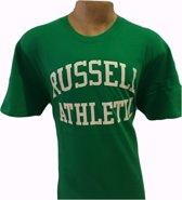 Russell Athletics Heren T-Shirt - Groen/Wit - Maat XXL