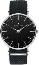 Wallace Hume Zwart - Horloge - Perlon - Zwart
