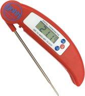 Digitale Kookthermometer (Rood) - Inklapbare Sonde -50°C tot 300°C