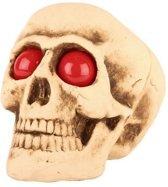 Halloween - Decoratie halloween schedel met lichtgevende ogen