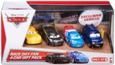 Disney Pixar Cars auto's race day cadeau set - 4 pack