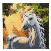 Diamond Painting Crystal Art Kit ®Sunshine Unicorn, 30 x30 cm, Partial Painting
