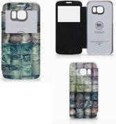 Wallet Case met Pasjes Samsung Galaxy S6 Edge Spijkerbroeken