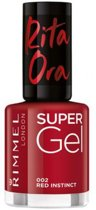 Rimmel London Supergel Nailpolish By Rita Ora 002 Red Instinct