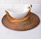 Sener paci - gondel porselein fruitschaal met bamboe stand