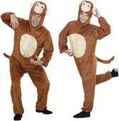 Aap & Gorilla & Baviaan & King Kong Kostuum | Full-Body Pluche Aap | Volwassen | Medium / Large | Carnaval kostuum | Verkleedkleding
