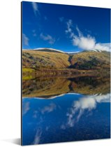 Nationaal park Lake District weerspiegeling in het water Aluminium 80x120 cm - Foto print op Aluminium (metaal wanddecoratie)