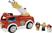 Fisher-Price Little People Brandweerauto Met Ladder - Speelfigurenset