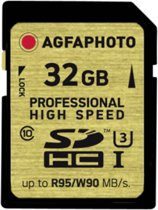 AgfaPhoto SDHC kaart UHS I  32GB Professional High Speed U3 95/90