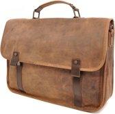 Berba Barbarossa Ruvido briefcase 15 inch coffee