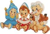 Kapstok Pinokkio Geopetto & Fee hout | Bartolucci