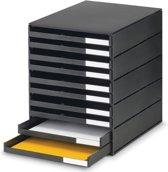 Styro ladenblok Styroval met 10 open laden zwart
