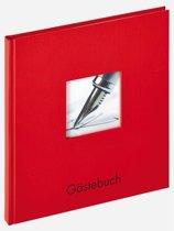 Walther Fun gastenboek rood 23x25 72 witte pagina's  GB205R