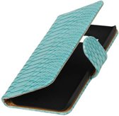 Samsung Galaxy J2 Hoesje Slang Bookstyle Turquoise