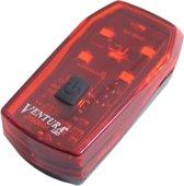 Ventura Achterlicht Helios 5 Led Batterij Zwart