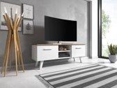 TV Meubel Wit - Scandinavisch Design - 140x53x41 cm