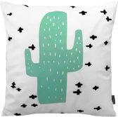 Soft Cactus + Kussenhoes | Katoen - Flanel | 45 x 45 cm