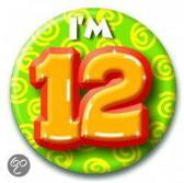 Button 12 jaar (55 mm)