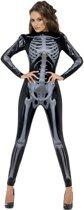 Skelettenkostuum - Halloween Catsuit dames - Maat S - 36-38