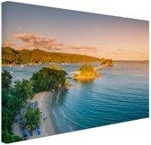Caraibische brug Canvas 180x120 cm - Foto print op Canvas schilderij (Wanddecoratie woonkamer / slaapkamer) XXL / Groot formaat!